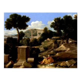 Nicolas Poussin-Landscape with St. James in Patmos Postcard