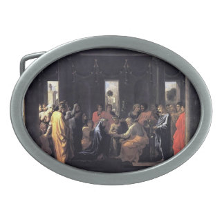 Nicolas Poussin- Marriage Oval Belt Buckles