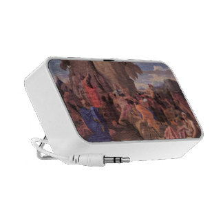 Nicolas Poussin-Moses Striking Water from the Rock Portable Speaker