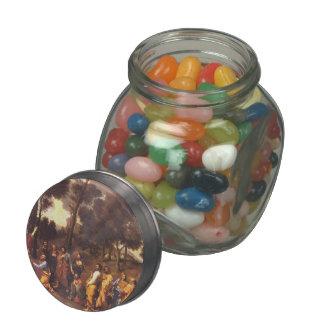 Nicolas Poussin- Ordination Glass Candy Jars