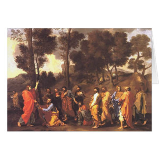 Nicolas Poussin- Ordination Greeting Card