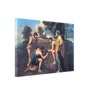 Nicolás Poussin - pastores en Arcadia Impresión En Lona