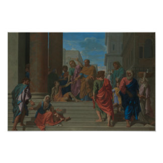 Nicolas Poussin - Saints Peter and John Poster
