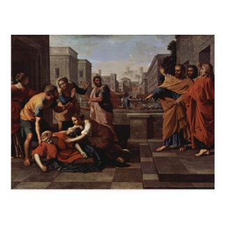 Nicolas Poussin- The Death of Saphire Post Card