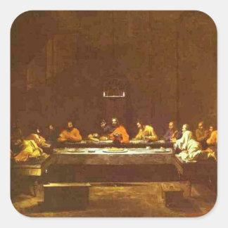 Nicolas Poussin- The Last Supper Square Stickers