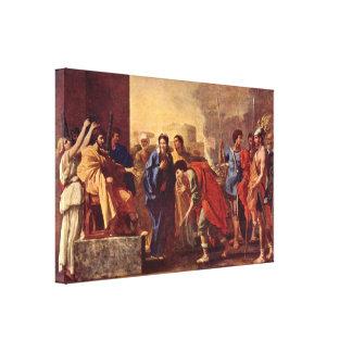 Nicolas Poussin - the magnanimity of Scipio Canvas Print