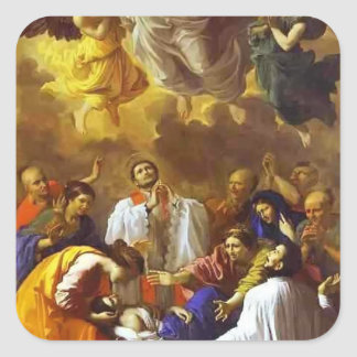 Nicolas Poussin- The Miracle of St. Francis Xavier Stickers