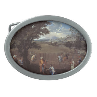 Nicolas Poussin- The Summer (Ruth and Boaz) Oval Belt Buckles