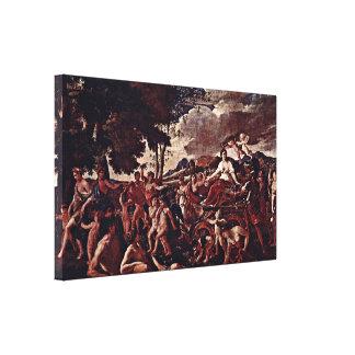 Nicolas Poussin - The triumph of Flora Canvas Print