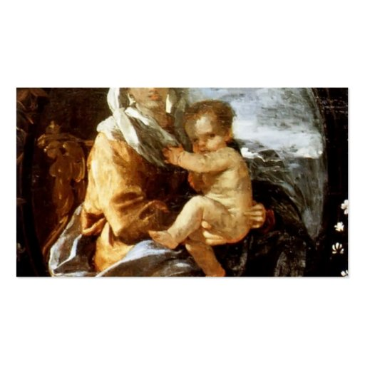 Nicolas Poussin- Virgin and Child Double-Sided Standard Business Cards (Pack Of 100)