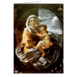 Nicolas Poussin- Virgin and Child Greeting Card