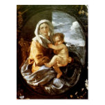 Nicolas Poussin- Virgin and Child Postcard