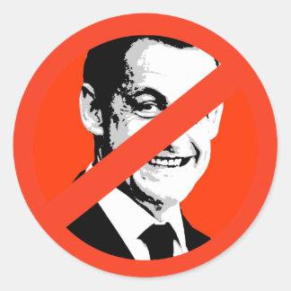 Nicolas Sarkozy Pegatina Redonda