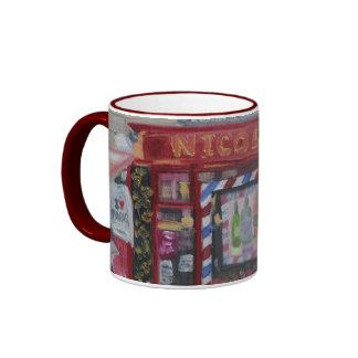 Nicolas Wine Shop Ringer Mug
