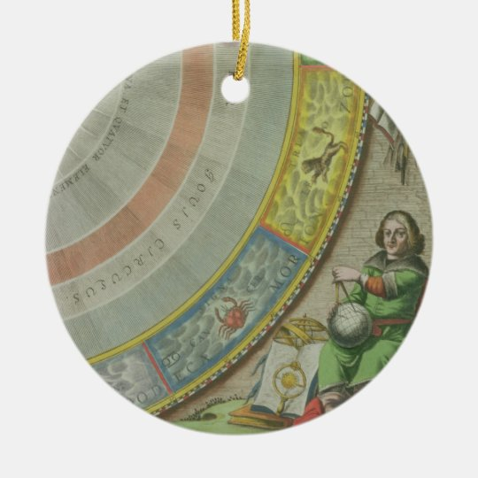 Nicolaus Copernicus (1473-1543), detail from a Map Ceramic Ornament