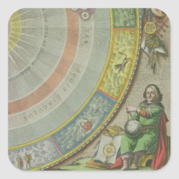 Nicolaus Copernicus (1473-1543), detail from a Map Square Sticker