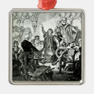 Nicolaus Copernicus  Explaining his Theory Metal Ornament