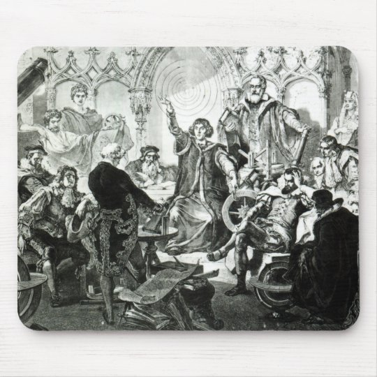 Nicolaus Copernicus  Explaining his Theory Mouse Pad