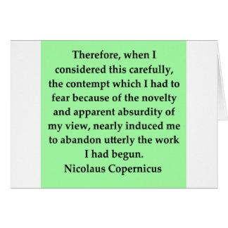 nicolaus copernicus quote greeting card