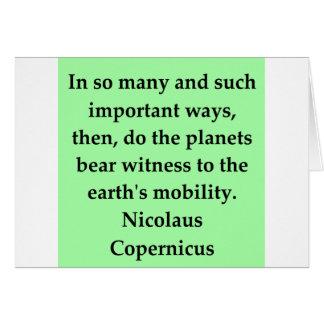 nicolaus copernicus quote card