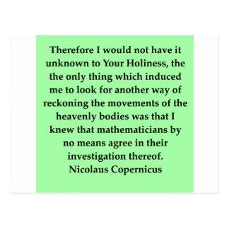 nicolaus copernicus quote postcard