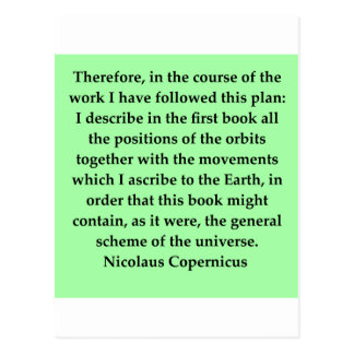 nicolaus copernicus quote postcards