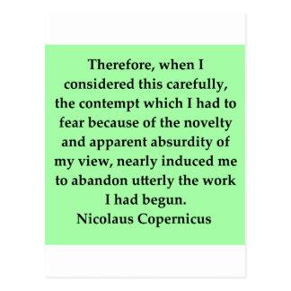 nicolaus copernicus quote post cards