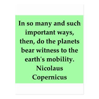 nicolaus copernicus quote post card