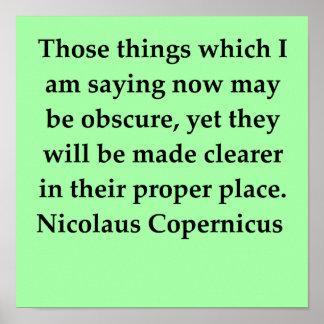 nicolaus copernicus quote poster