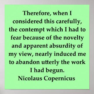 nicolaus copernicus quote posters