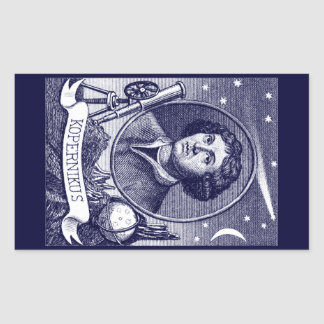 Nicolaus Copernicus Rectangular Sticker