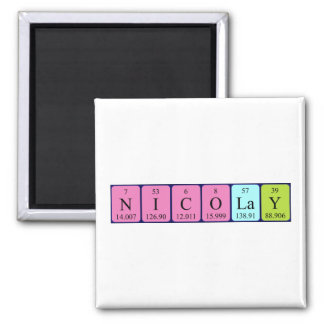 Nicolay periodic table name magnet