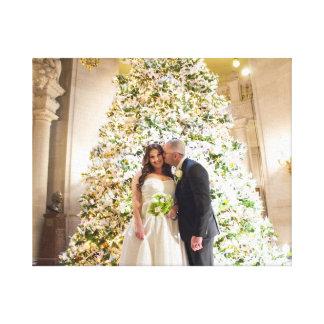 """Nicole + Jesse's Wedding 20"""" x 16"""" Wrapped Canvas"""