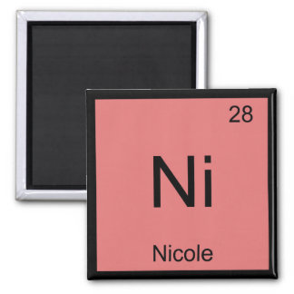 Nicole Name Chemistry Element Periodic Table 2 Inch Square Magnet