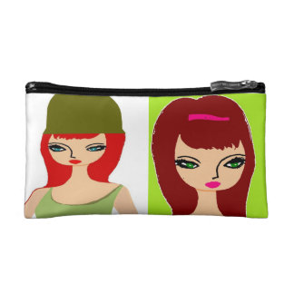Nicole Red Hotty  ,  beautiful redhead woman Cosmetic Bag
