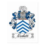 Nicoletti Family Crest Postcard