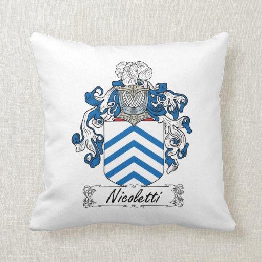 Nicoletti Family Crest Throw Pillows