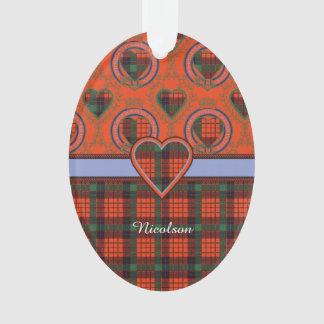 Nicolson clan Plaid Scottish tartan