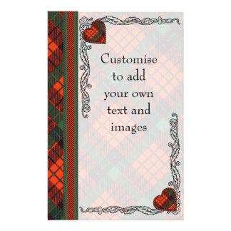 Nicolson clan Plaid Scottish tartan Flyer