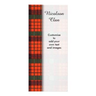 Nicolson clan Plaid Scottish tartan Rack Card