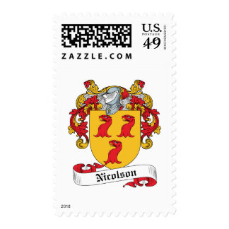 Nicolson Family Crest Postage Stamps