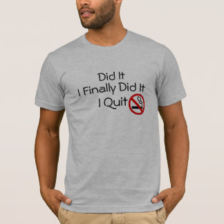 Nicotina libre abandoné el fumar playera