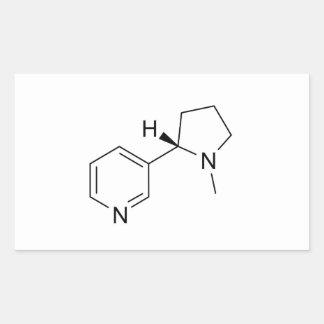nicotine chemical formula science symbol elements rectangular sticker