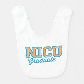 NICU Grad Graduate Baby Boy Bib (Blue and Orange)