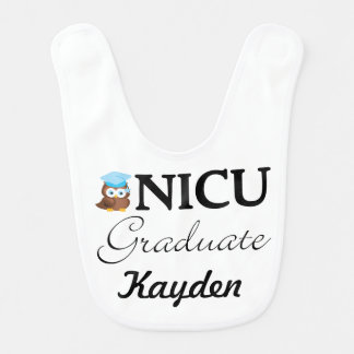 NICU Graduate Baby Boy Bib