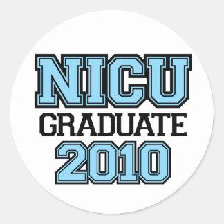 NICU Graduate Boy Classic Round Sticker