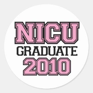 NICU Graduate Girl Classic Round Sticker