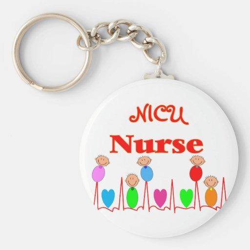 NICU Nurse--Adorable Baby Graphics Keychains