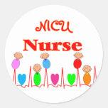 NICU Nurse--Adorable Baby Graphics Round Sticker