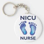 NICU Nurse Basic Round Button Keychain